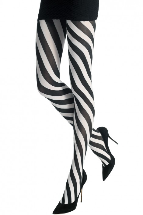 TWO TONED SPIRAL TIGHTS