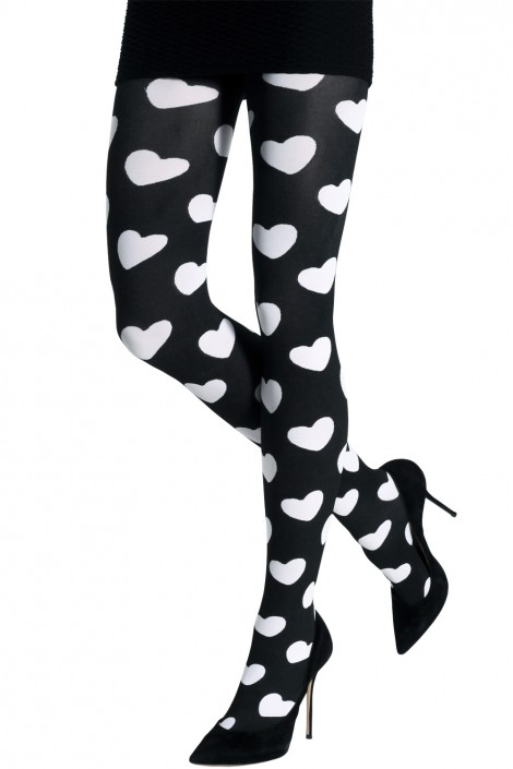 TWO TONED HEARTS TIGHTS