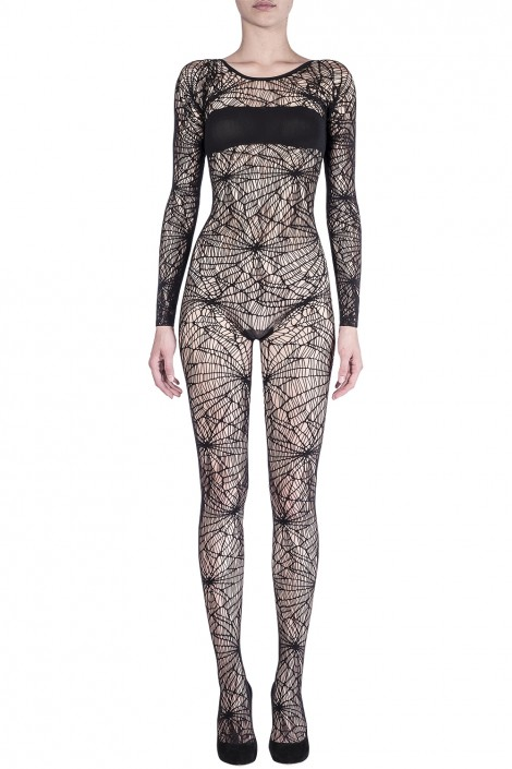 SPIDERWEB BODYSUIT WITH COVER UP BAND