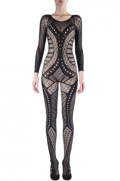 ENGINEERED LACE BODYSUIT