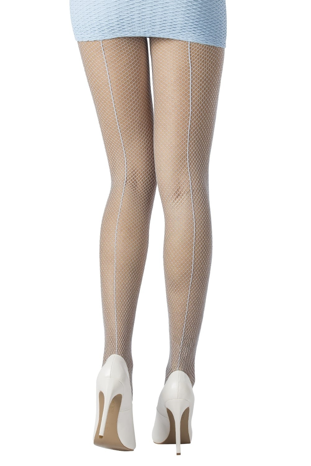 a2dbed7e4 ... BACK SEAM FISHNET TIGHTS. Ivory Nude Black Magnetic Blue Soft Sand Navy  Crystal Blue Lilac