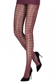 HOUNDSTOOTH OPENWORK TIGHTS