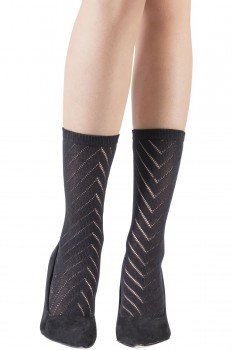 CHEVRON OPENWORK SOCKS