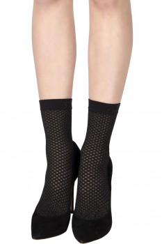 METALLIC DOUBLE NET SOCKS