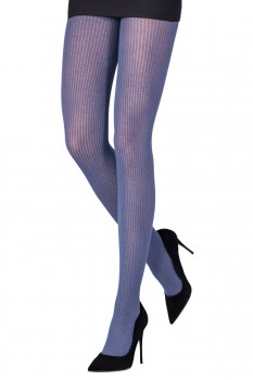 RIBBED VISCOSE/CASHMERE TIGHTS