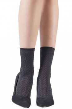 SHINY RIBBED CABLE SOCKS