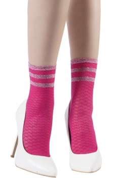 DIAMOND DOUBLE NET SOCKS