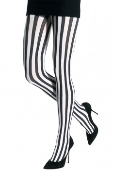 TWO TONED VERTICAL STRIPES TIGHTS