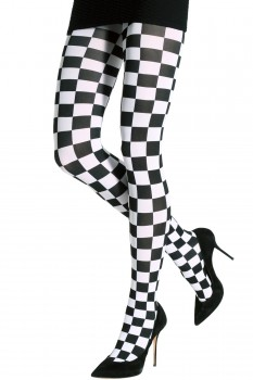 TWO TONED CHESS TIGHTS