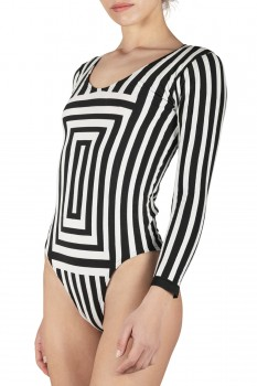 TWO-TONED OPTICAL BODYSUIT