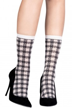 SMALL OPTICAL HOUNDSTOOTH SOCKS