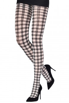 SMALL OPTICAL HOUNDSTOOTH TIGHTS
