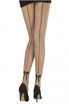SPARKLE BOW BACK SEAM TIGHTS
