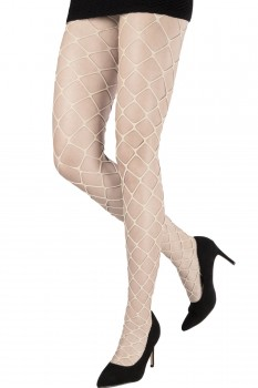 METALLIC OVERSIZED FISHNET TIGHTS