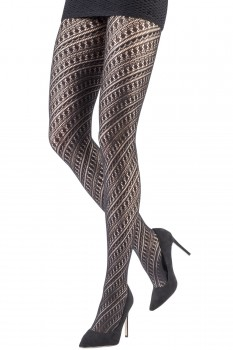 SPIRAL LACE TIGHTS