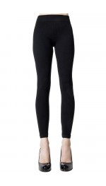 MICRO RIBBED VISCOSE/CASHMERE LEGGINGS