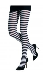 TWO TONED HORIZONTAL STRIPES TIGHTS