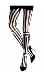 TWO TONED OPTICAL TIGHTS