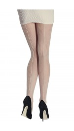 BACK SEAM FISHNET TIGHTS-Natural-S/M
