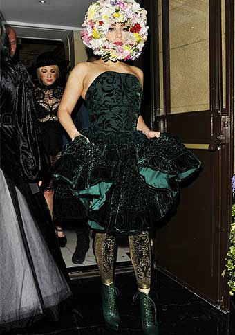 Lady Gaga wears Emilio Cavallini Tights